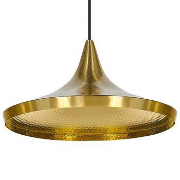 Beat Light Brass Pendant - Wide