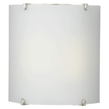 Edge Bow Square Wall Sconce (Nickel/White) - OPEN BOX RETURN