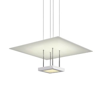 Chromaglo Bright White LED Square Reflector Pendant