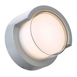 Geo LED Outdoor Wall Sconce with Hood