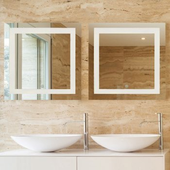 Square Vanity Mirror With Lights. Spa LED Square Vanity Mirror by Access Lighting at Lumens com