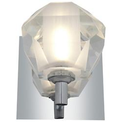 Glasie Diamond Crystal Wall Sconce (Chrome) - OPEN BOX