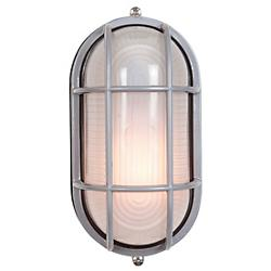 Nauticus Oval Wall Sconce (Satin/Large) - OPEN BOX RETURN