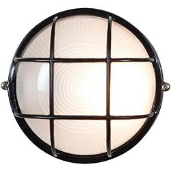 Nauticus Round Ceiling/Wall Light (Black/Large) - OPEN BOX