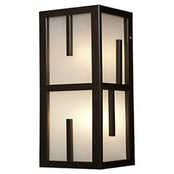 Zen Outdoor Vertical Wall Sconce (Bronze/12 inch) - OPEN BOX