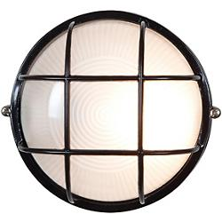 Nauticus Round Ceiling/Wall Light (Black/Small) - OPEN BOX