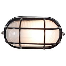 Nauticus Oval Wall Sconce (Black/Large) - OPEN BOX