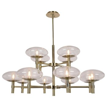 Shown in Brushed Brass finish, 2 Tiers