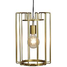 Wired Vertical Cage LED Pendant Light