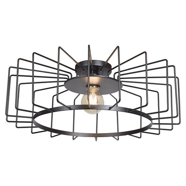 Wired Horizontal Cage LED Flushmount