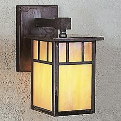 Huntington Hanging Outdoor Wall Sconce (Gold Wh/Br)-OPEN BOX