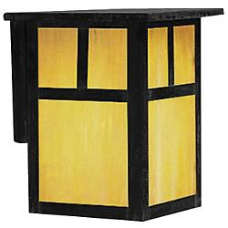 Mission Outdoor Wall Sconce (Tan/T-bar/Black/Small)-OPEN BOX