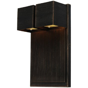 Fontana LED Cube 2 Light Outdoor Wall Sconce