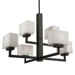 Cube Light 2-Tier Chandelier