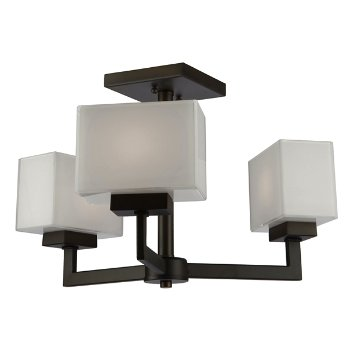 Cube Light Semi-Flushmount