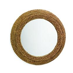 Ricki Seagrass Round Mirror