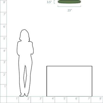 23-In. Diameter option