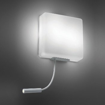 Square Wall Sconce with LED Reading Light