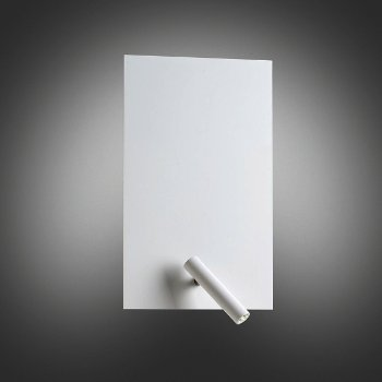 Flat Rectangular Wall Sconce with LED Reading Light