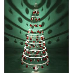 Modern Tree - Pearl with Red Ornaments