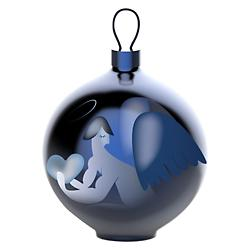 Blue Christmas Ornament - Angel