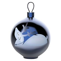 Blue Christmas Ornament - Reindeer