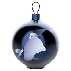 Blue Christmas Ornament - Santa Claus