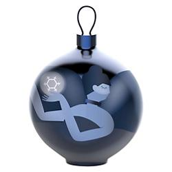 Blue Christmas Ornament - Dancer