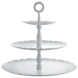 Dressed for X-mas 3-Tier Cake Stand (White) -OPEN BOX RETURN