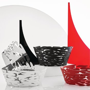 Shown in Stainless Steel finish, Black finish, Red finish, White finish