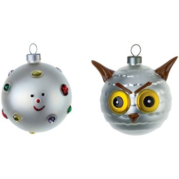 Fioccodineve and Uffoguffo Small Ornament Set