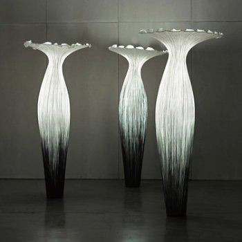 Morning Glory Floor Lamp, in use