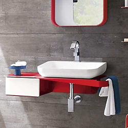 Tulip Sink Console with Drawer(White/Sink on Right)-OPEN BOX