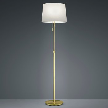 Shown in Satin Brass with White Shade finish
