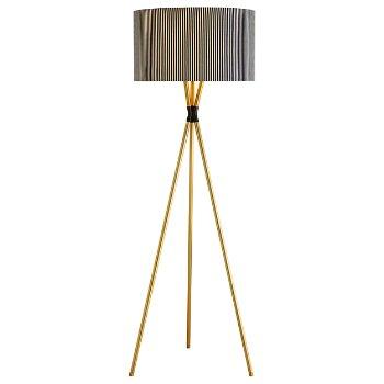 Quade Floor Lamp. lit
