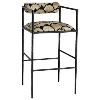 Shown in Ocelot Embroidery finish, Bar Stool