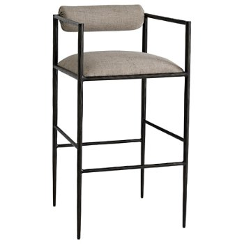 Shown in Pewter Texture finish, Bar Stool