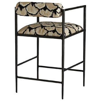 Shown in Ocelot Embroidery finish, Counter Stool