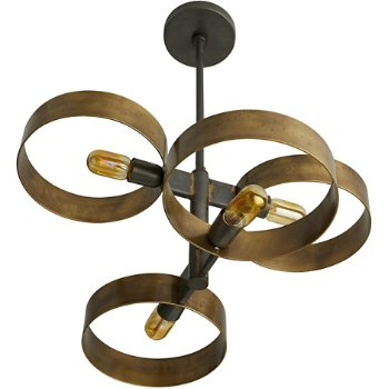 Shown in Antique Brass finish with Gold color, unlit