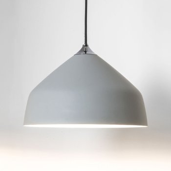 Shown in Light Grey finish, Small size