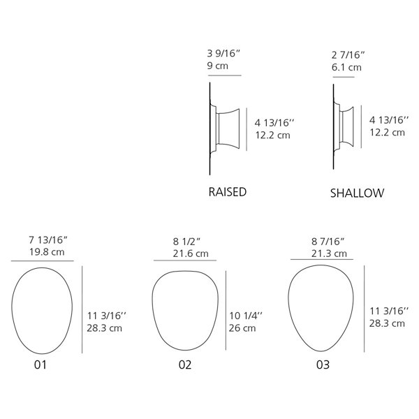 Facce Wall/Ceiling LED Light
