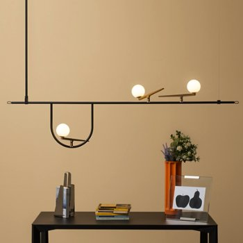 Shown in use, lit