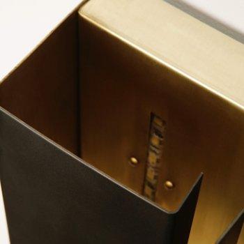 Shown in Darkened Brass, Detail view