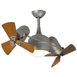 Dagny Dual Ceiling Fan w/ Light (Mahogany/Nickel) - OPEN BOX