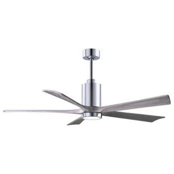 Shown in Barn Wood Fan Blade Finish, Brushed Nickel finish without Light cap, 42 Inch, lit
