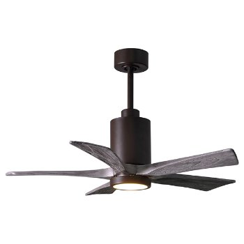 Shown in Barn Wood Fan Blade Finish, Brushed Nickel finish with Light cap, 42 Inch