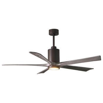 Shown in Barn Wood Fan Blade Finish, Brushed Nickel finish without Light cap, 52 Inch