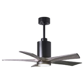 Shown in Barn Wood Fan Blade Finish, Brushed Nickel finish with Light cap, 60 Inch