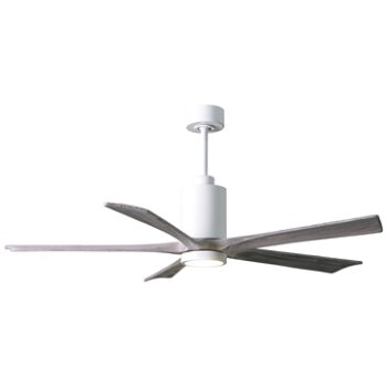 Shown in Barn Wood Fan Blade Finish, Matte Black finish, 42 Inch, lit