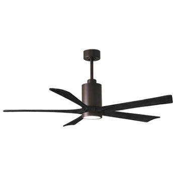 Shown in Barn Fan Blade Finish, Polished Chrome finish, 42 Inch, lit